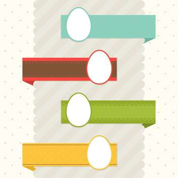 Set with easter eggs and ribbons - vector gratuit #130375