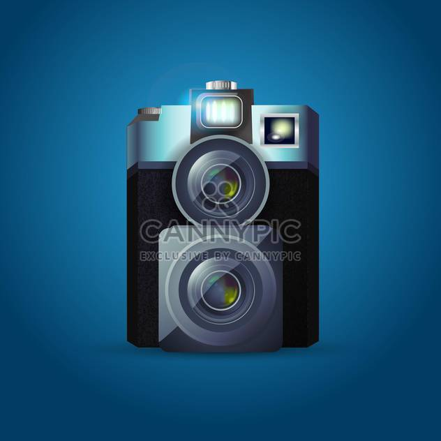 Altes Photo-Kamera-Vektor-illustration - Kostenloses vector #130455