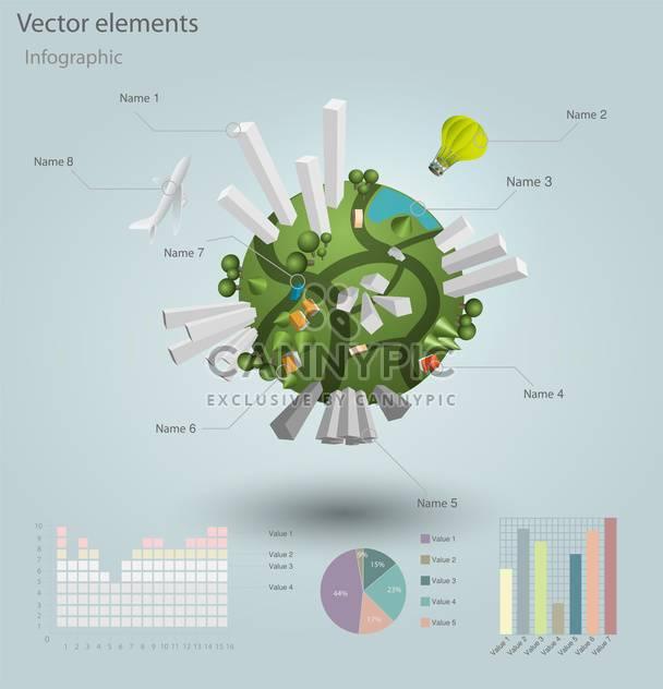 industrielle Infographik Elemente mit Wohngebieten - Free vector #130495