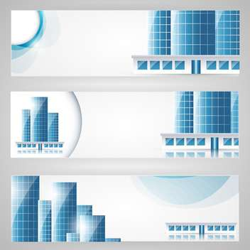 city banners set background - vector gratuit #130515