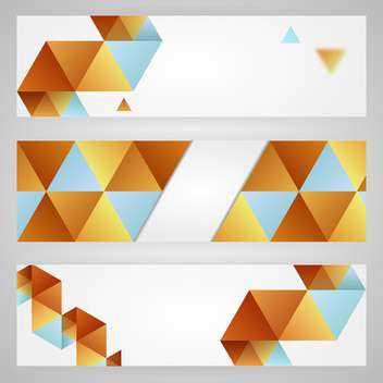 Vector white cards with triangles - Free vector #130525