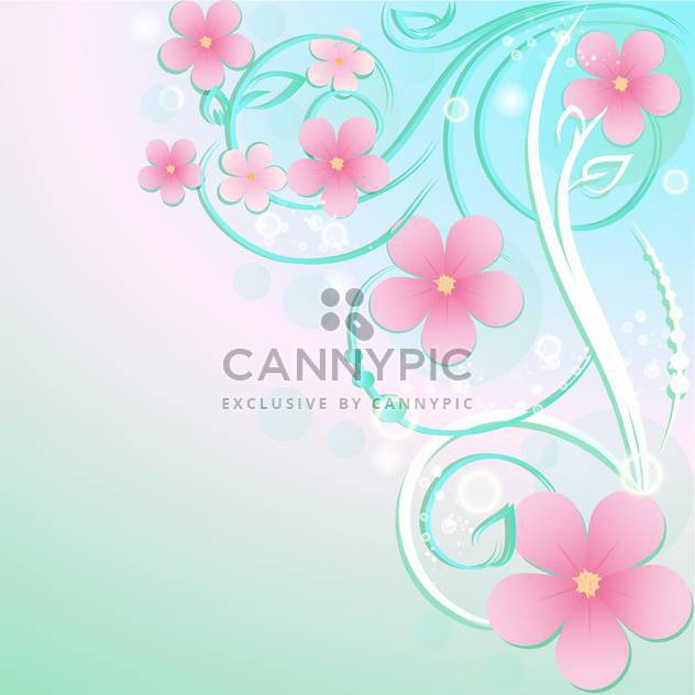 Greeting card with flowers and text place - Free vector #130565