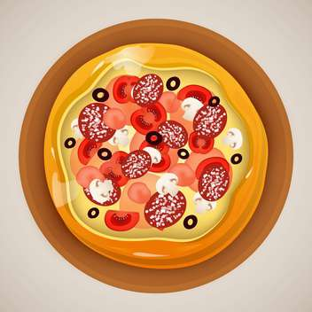 hot Pizza on grey background - бесплатный vector #130665