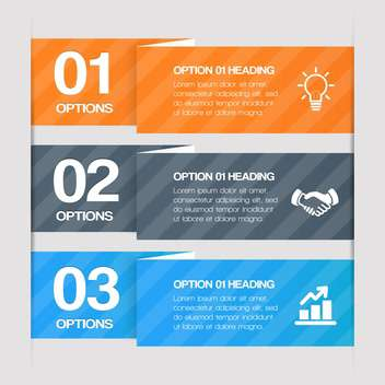 step by step web elements with text place - vector #130675 gratis