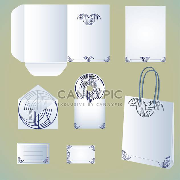 Stationery design vector set - Free vector #130705