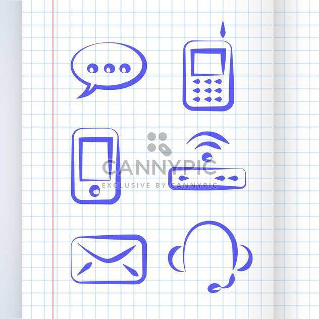 vector illustration of communication icon set - Free vector #130735
