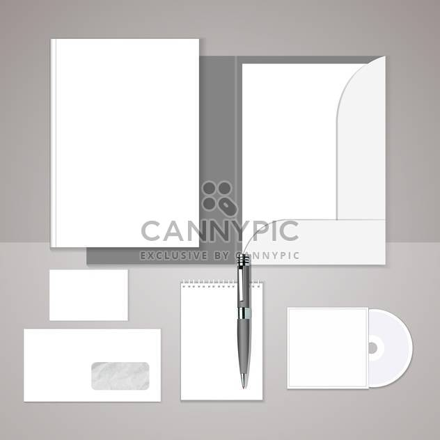 vector set of templates corporate identity on grey background with text place - Free vector #130775
