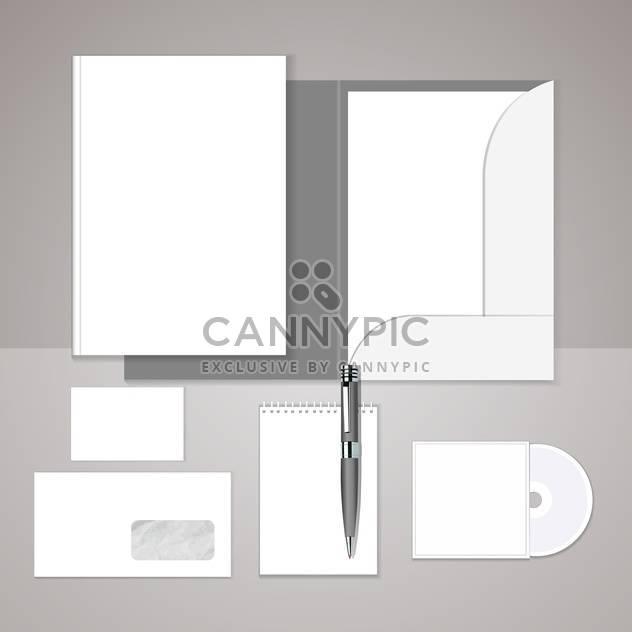 Vektor-Satz Vorlagen corporate identity auf grauen Hintergrund mit Text-Platz - Free vector #130775