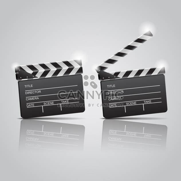 Film clap boards cinema on grey background - Free vector #130815