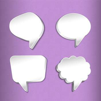 Vector set of speech bubbles illustration - vector gratuit #130845