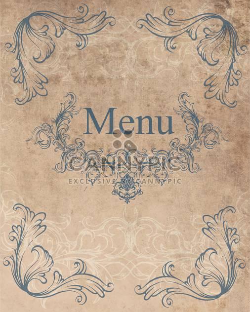 Restaurant-Menü-Design-Vektor-Hintergrund - Kostenloses vector #130855