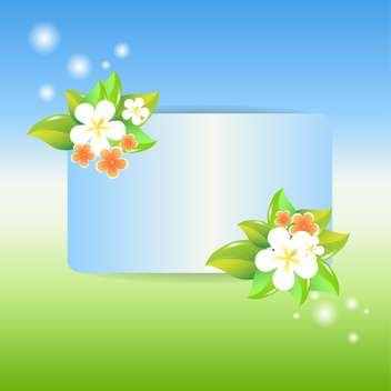 Greeting card with flowers vector illustration - Free vector #130875