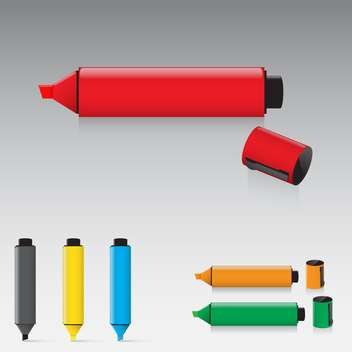 Set of highlighter pens vector illustration - Kostenloses vector #130915