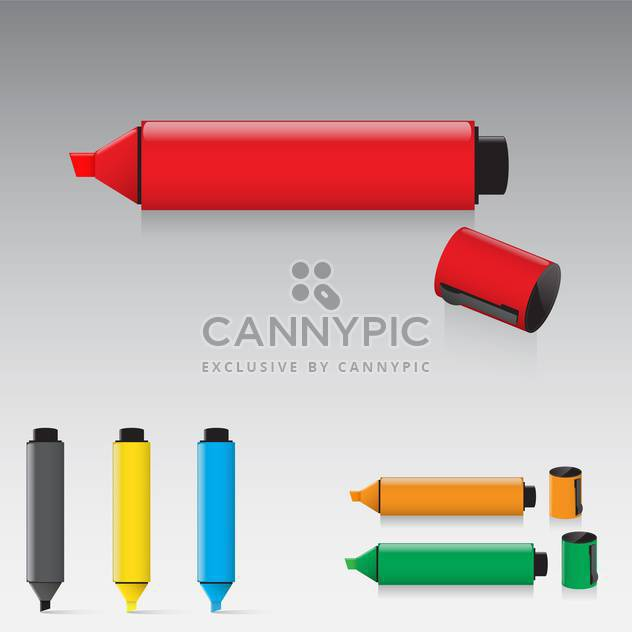 Set of highlighter pens vector illustration - Free vector #130915