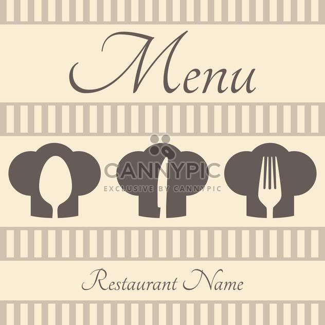Restaurant sign menu with spoon, fork and knife - Free vector #130955