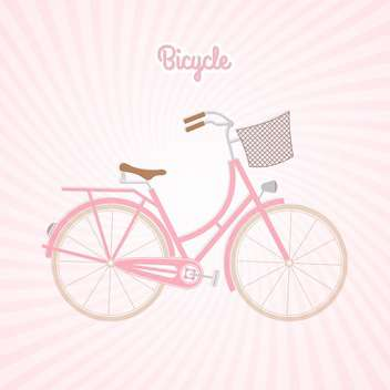 retro pink bicycle vector illustration - Free vector #130965