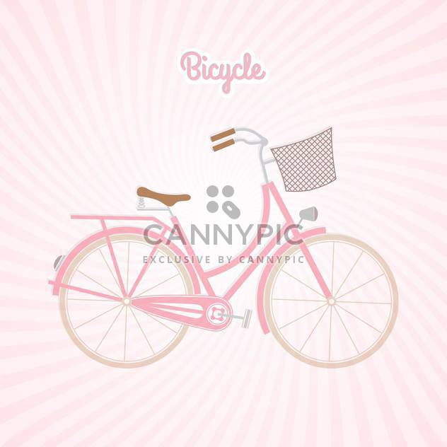 Retro Rosa Fahrrad-Vektor-illustration - Free vector #130965