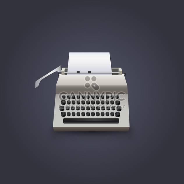 Alte Schreibmaschine-Vektor-Illustration auf dunklem Hintergrund - Free vector #130975