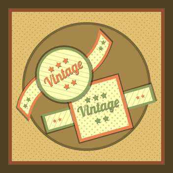 Vector collection of vintage and retro labels - бесплатный vector #131005