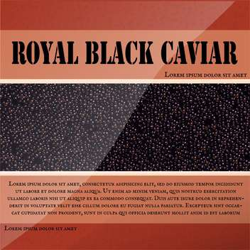 Royal black caviar label - vector gratuit #131085