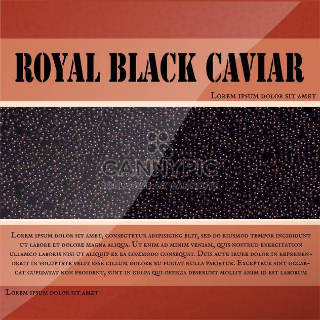 Royal black caviar label - Free vector #131085