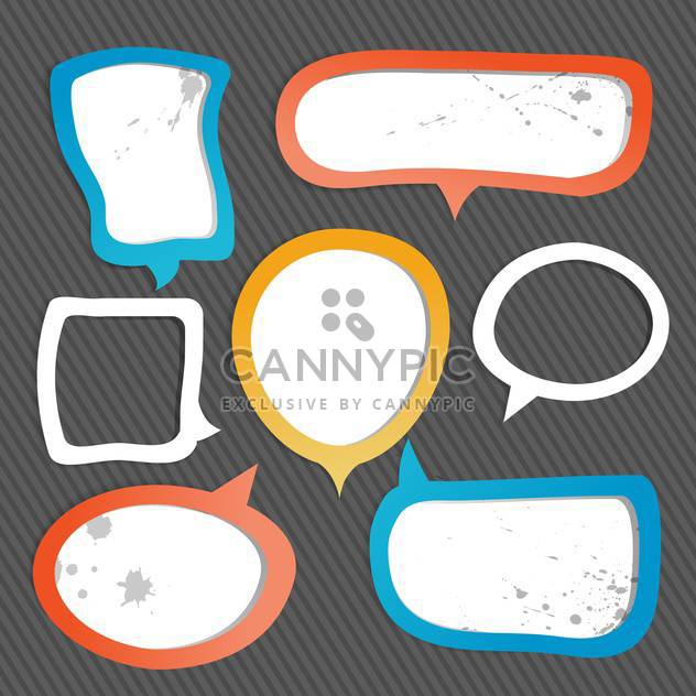 Paper speech bubbles on black background - Free vector #131145
