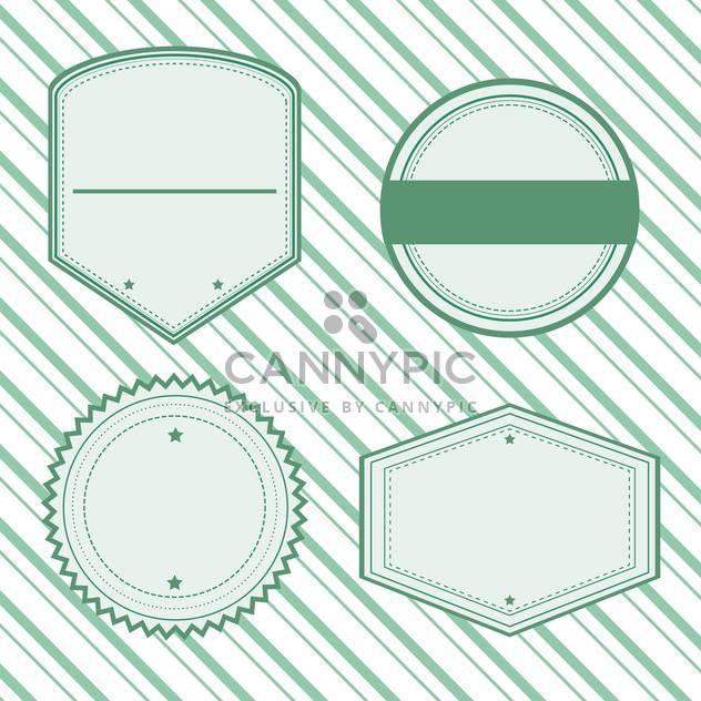 Vector retro labels set - Free vector #131165