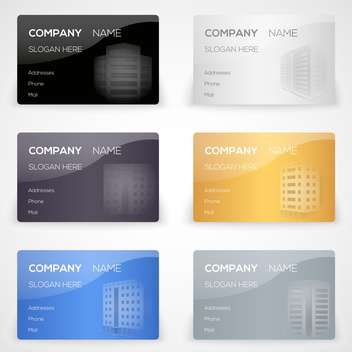 Vector set with business cards - vector gratuit #131185