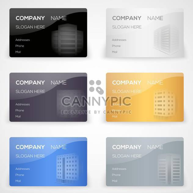 Vektor-set mit Visitenkarten - Kostenloses vector #131185