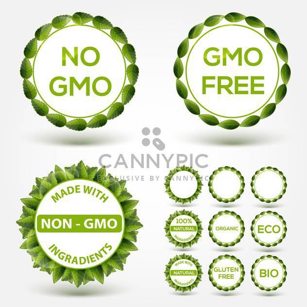 Нет ГМО продовольственной этикетки наклейки - бесплатный vector #131195