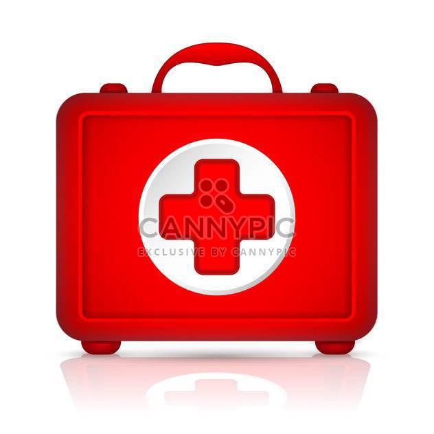 Rot-erste-Hilfe-Kit-Vektor-illustration - Kostenloses vector #131225