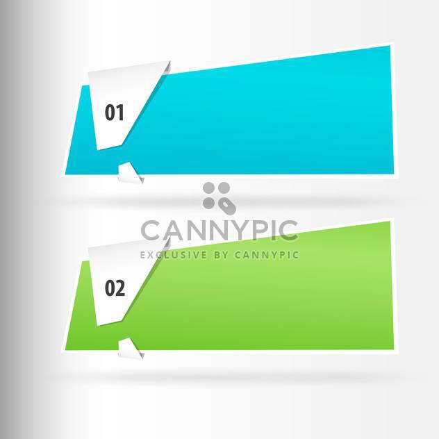 Vector web banners on white background - Free vector #131235