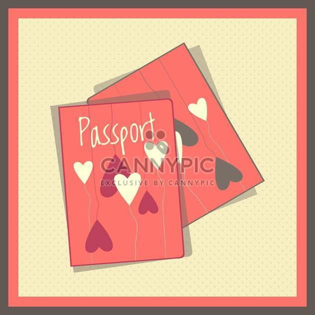 Heart passport covers vector illustration - Free vector #131275