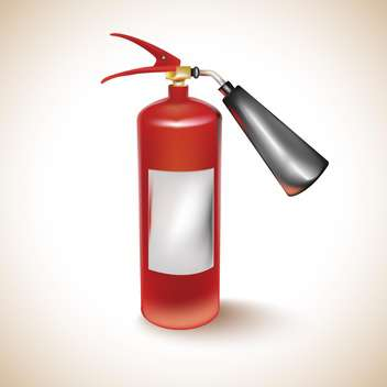 Red fire extinguisher on light background - vector #131305 gratis