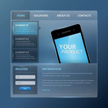 Website design vector elements - vector #131325 gratis