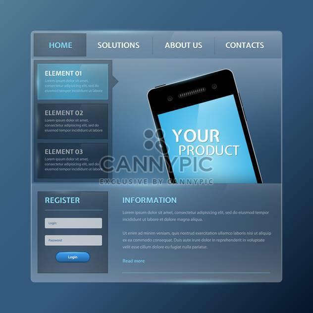 Website design vector elements - Free vector #131325