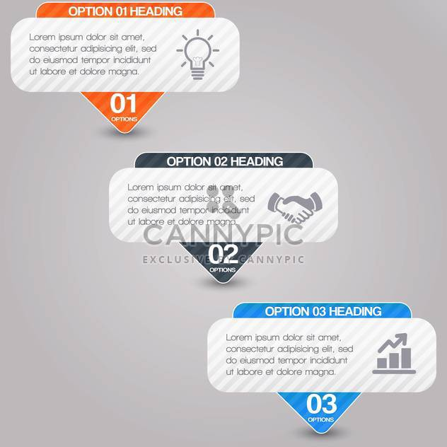 Vector business tags on grey background - Free vector #131385