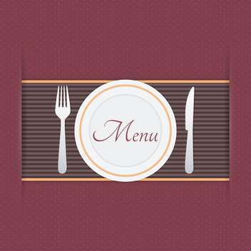 Restaurant menu background vector illustration - Free vector #131395