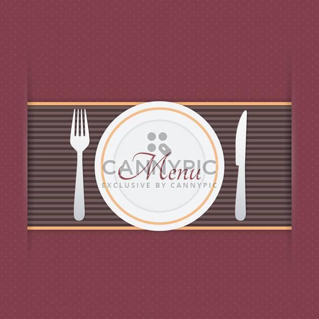 Restaurant-Menü-Hintergrund-Vektor-illustration - Free vector #131395