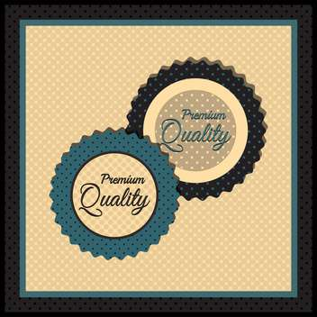 Collection of premium quality labels with retro vintage styled design - бесплатный vector #131445