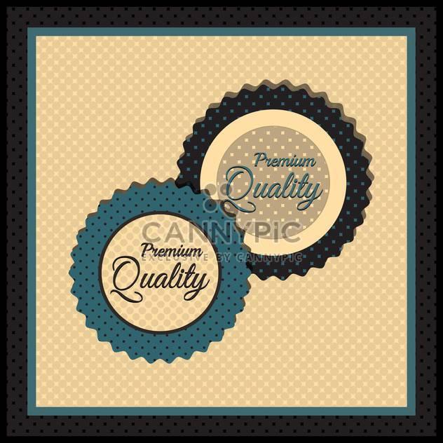 Sammlung von Premium-Gütesiegel mit retro Vintage Stil design - Free vector #131445