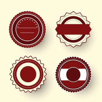 Collection of premium quality labels with retro vintage styled design - vector gratuit #131455