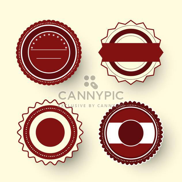 Collection of premium quality labels with retro vintage styled design - Free vector #131455