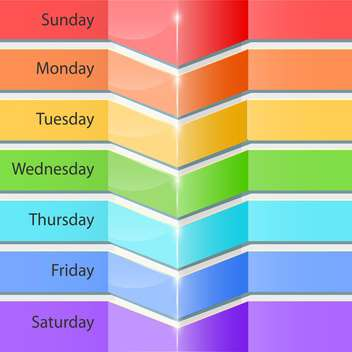 Banners with days of the week for planning - Kostenloses vector #131515