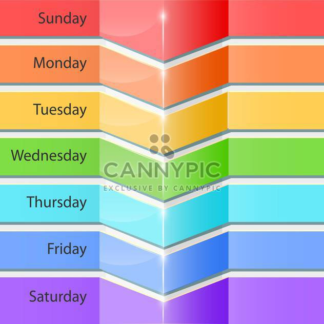Banners with days of the week for planning - Free vector #131515