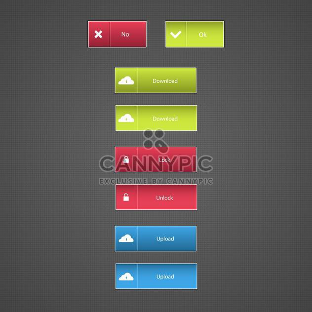 Download now button set vector illustration - Free vector #131575