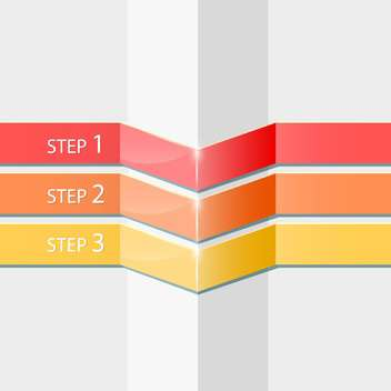 Vector progress steps with copy space - Free vector #131605