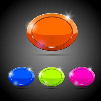 Vector web buttons illustration - vector gratuit #131615