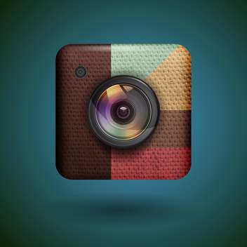 Photo camera web icon vector illustration - vector gratuit(e) #131805