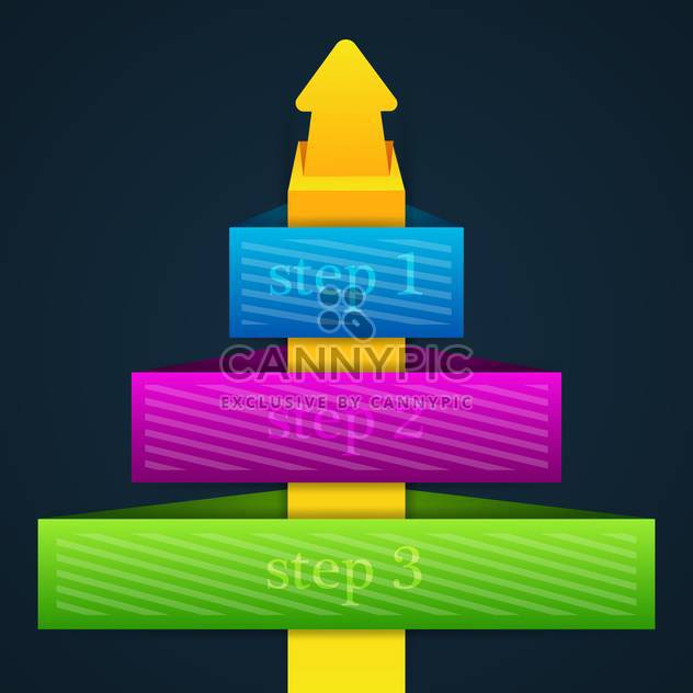 Arrow stickers set with numbered buttons - Free vector #131855